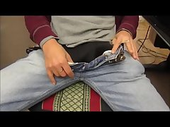 Hot Sexy Bulge Jeans Showing Big Cock