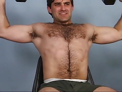 Hairy James jerks off