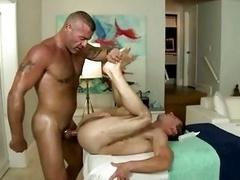 Male-female man enjoys queer penis