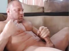 Muscle Brad Quick Cam Jerk Off & Cum