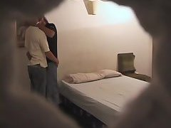 Gay ass banged from behind on hidden cam