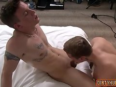 Muscle gay oral sex with cumshot