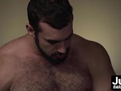 Big muscle dude Jaxton ass barebacking sexy tattooed guy