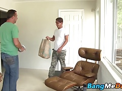 Twink with a slim figure getting butt fucked by a nasty dude