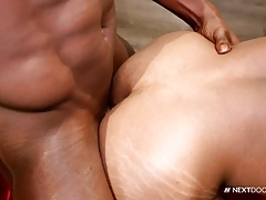 NextDoorEbony Couple with Big Cocks and Muscles