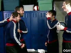 Nasty soccer boy orgy
