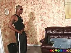 Horny white guy returns for more black cocks