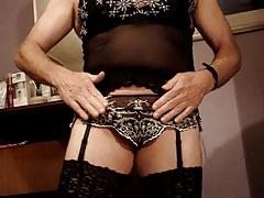 Wife's lingerie cum