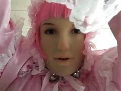 Sissy Marcia with stiff sissy cockl