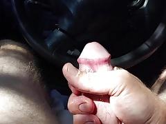 Big cumshot in Truck