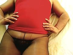 Tanya Cum In Black Pantyhose