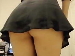 Hot shemale fucking her ass with a dildo and cum