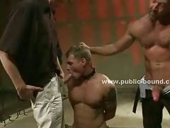 Gay sex slave forced to fuck by group