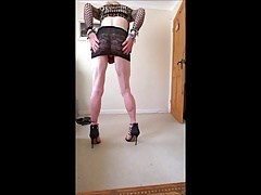 Showin off new heels and skirt