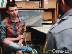Teen shoplifter sperms