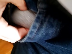 Blown dick in jeans