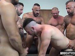 Latin jock double penetration with cumshot