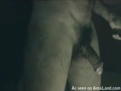 Hairy Guy Jacking off Over a Piece of Paper