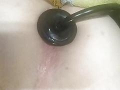 Inflatable dildo and cum