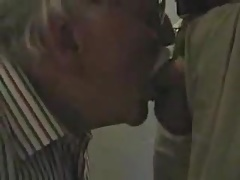 Grandpa sucking