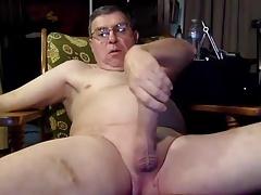 Dad with glasses cum
