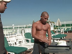Gorgeous gay boys love fucking each other by the pool