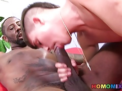Andy Taylor Gets A Black Cock Slid In His Ass