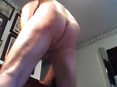 daddy play with dick, ass and cum