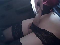 Hottie Tgirl In Car