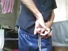 Sri Lankan guy jerking of for Web Cam