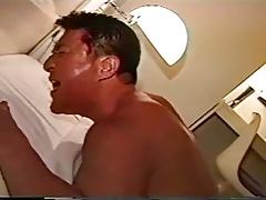 Asian boy on older - dad gets pounded