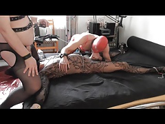 2 Master, 3 Crossdresser Slaves Part 1