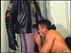 Hairy gay gets his butt slammed and enjoys cum on his belly