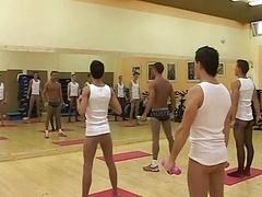 Man-loving boys in pantyhose having an group fucking