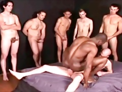 Black B0y Rides and fucks Big White Cock in his gay asshole