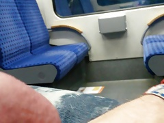 Feetlover812 cum in public Train