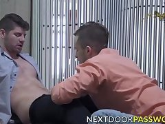Gorgeous studs bareback banging each others tight holes