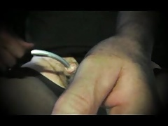 tranny sissy in cock sounding urethral of pantyhose nylon