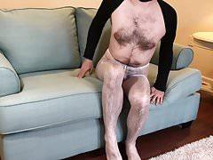 White Pantyhose Tease
