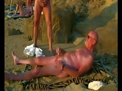 Two daddys at the beach