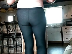 Stephie Has Fun In Tights + Heels.
