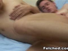 Two Barebacked Gay Men Felching