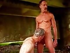 Older men sucking younger men