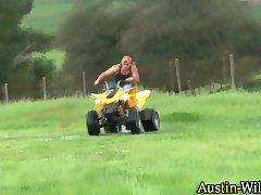 Austin wilde in quad bike