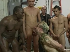 Blonde fairy Ned Mayhem gets brutally fucked in BDSM scene