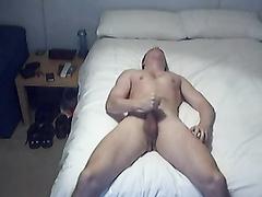 Ultra-Cute white college boy wanking off
