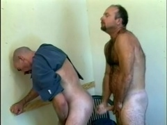 Two gay cops suck each other's dicks and enjoy it doggy style