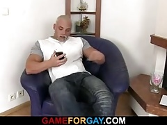 Straight honey is seduced by strong gay