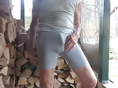 Bike shorts boner bulge