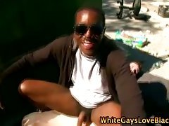 White gay gets hot thug loving